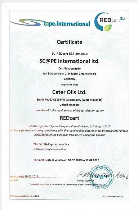 RedCert Certificate